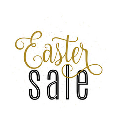 easter sale banner template vector image