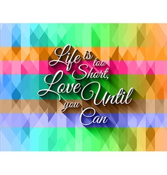 Inspirational Typo Text with Retro Style and vector image vector image