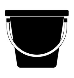 plastic bucket isolated icon vector image