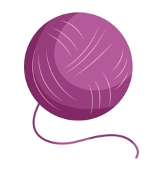 Purple yarn ball icon cartoon style vector image