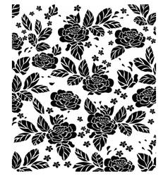 Rose pattern background vector image