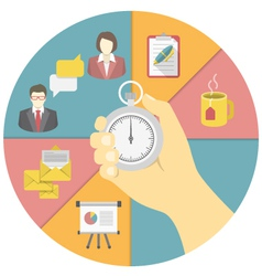 Time Management Concept vector image vector image