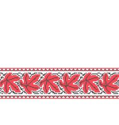 Ukrainian seamless ornament vector image vector image