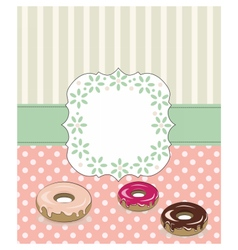 Birthday lace Card with sweets vector image