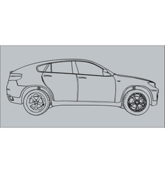 Car silhouette on a gray background vector image
