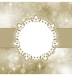 christmas card with snowflakes eps 8 vector image