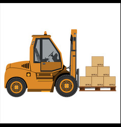 fork lift truck vector image vector image
