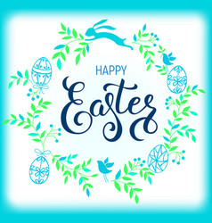 happy easter composition vector image vector image