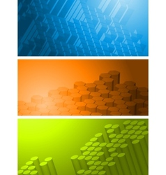 technical banners collection vector image
