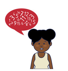 young african woman avatar character with speech vector image