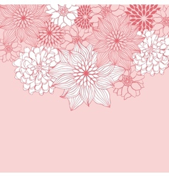 Abstract floral background flower element for vector image vector image