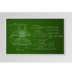 formula and graph on a board vector image