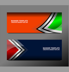 geometric banner backgrounds vector image