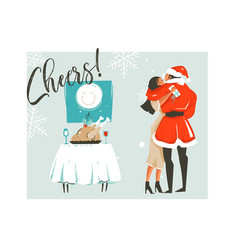 hand drawn abstract merry christmas time vector image