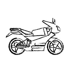 motorcycle transport fast sketch vector image