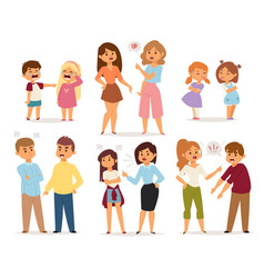 quarrel collection with arguing people in vector image
