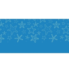 Starfish blue texture horizontal seamless pattern vector image vector image