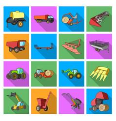 trailer dumper tractor loader and other vector image