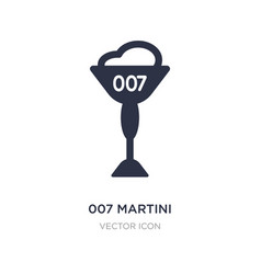 007 martini icon on white background simple vector