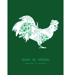 abstract blue and green leaves rooster vector image