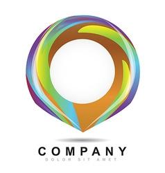 Abstract circle logo icon vector image