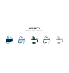 Allen keys icon in different style two colored vector