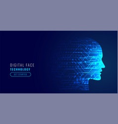 artificial intelligence concept robotic face vector image