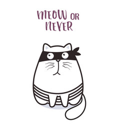 bad cat character for greeting card design vector image