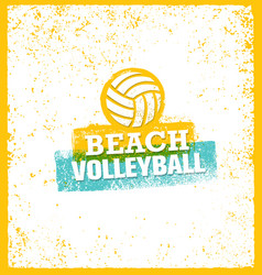 Beach volleyball bright design element on vector