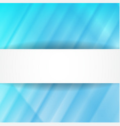 Blue abstract background with white banner vector image
