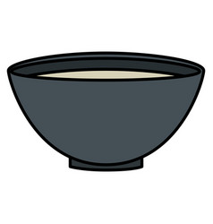 bowl with recipe icon vector image