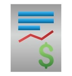 Business Report Gradient Icon vector