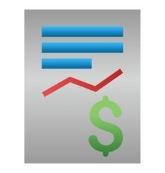 Business Report Gradient Icon vector