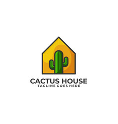 cactus house template vector image