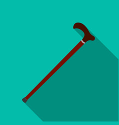 Cane for walkingold age single icon in flat style vector