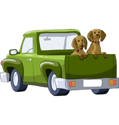 Car dog vector