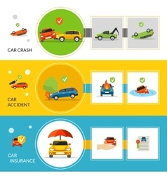Car Insurance Banners vector image vector image
