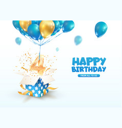 Celebrating 4 th years birthday 3d vector