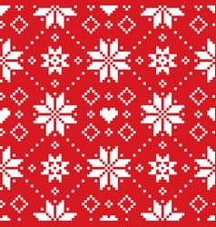 christmas or winter scottish fair isle style vector image