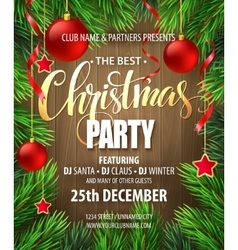 Christmas Party poster design template vector