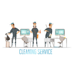 Cleaning service design cconcept vector