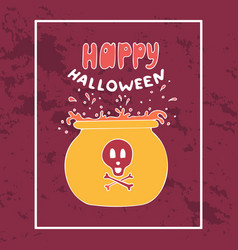 colorful hand-drawn banner for halloween vector image