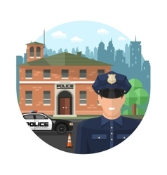 Concept Police Composition vector