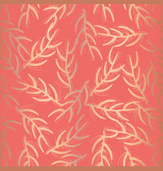 copper foil floral seamless pattern coral vector image
