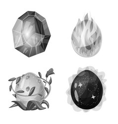 Design monster and fantasy icon set vector