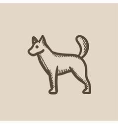 Dod sketch icon vector image