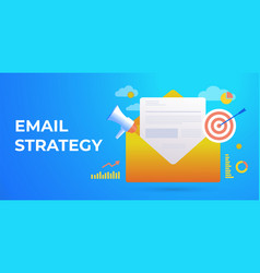 email marketing campaign digital advertising vector image