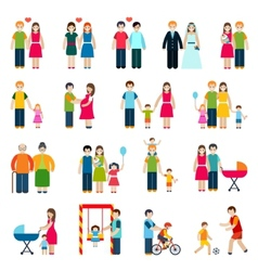 Family Figures Icons vector