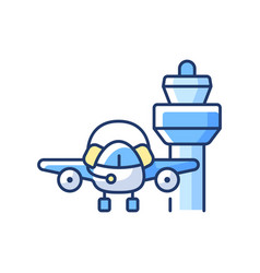 Flight dispatch rgb color icon vector