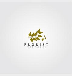 florist logo template logo for business corporate vector image